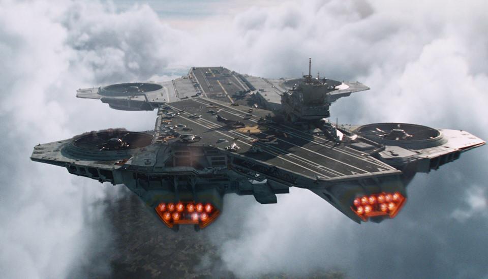 Con tàu Helicarier khổng lồ, trang bị hàng trăm khẩu súng tự động