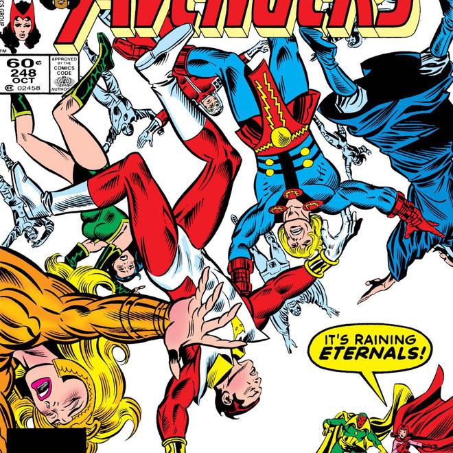 Eternals trong một tập của Avengers, góc bên phải là Wanda và Vision.
