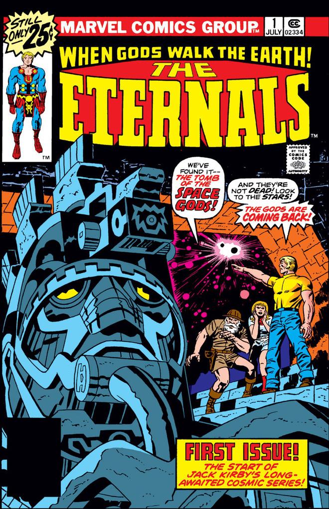 Tập đầu tiên của The Eternals, được chắp bút bởi Jack Kirby.