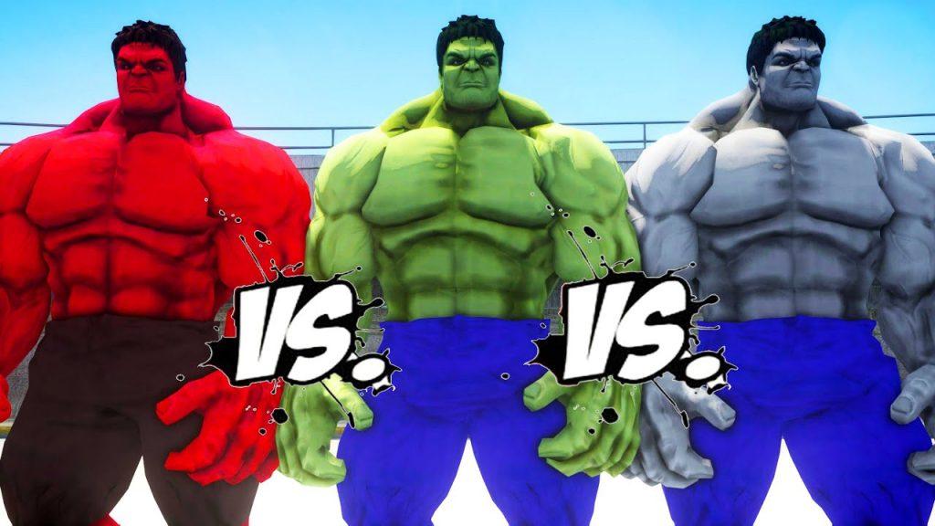 red hulk - gray hulk -red hulk