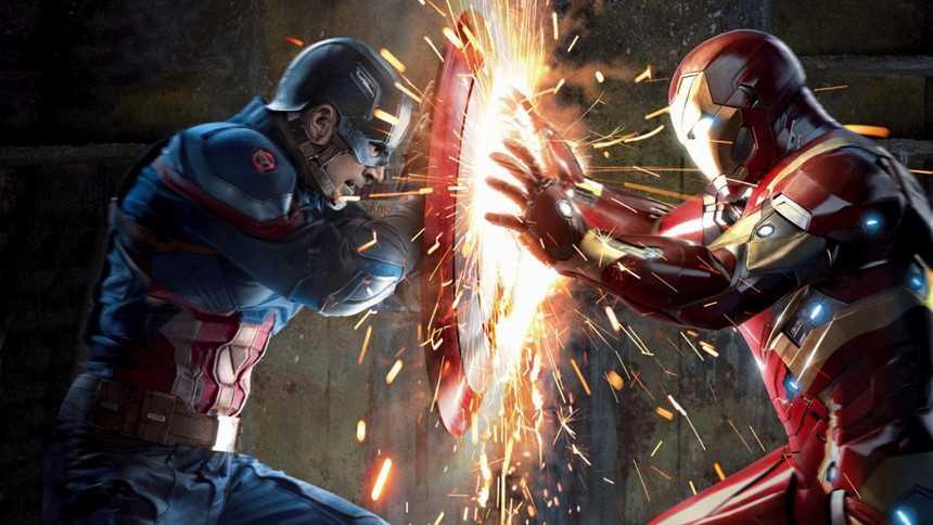 captain đối đầu iron man