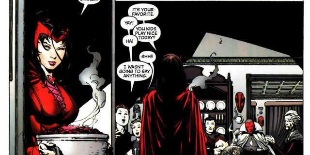 Thực tại ảo mà Scarlet Witch tạo ra trong sự kiện Avengers Disassembled; điều đáng chú ý là Vision khi này cũng đã qua đời.