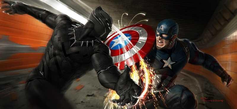 black panther và captain