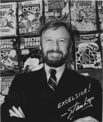 Hình ảnh Stan Lee trong văn phòng của Marvel vào năm 1968