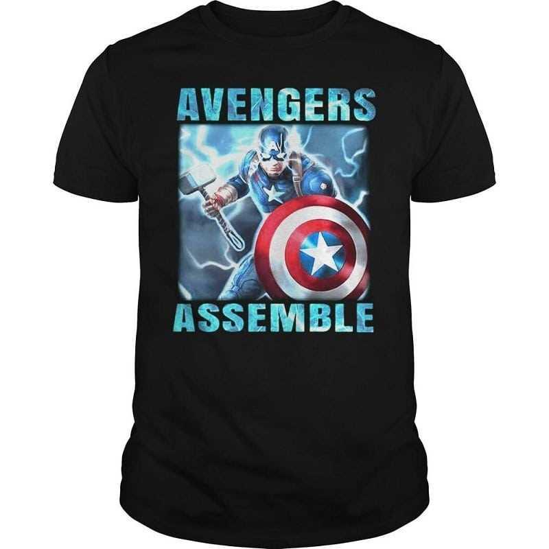 Mẫu áo thun Captain America