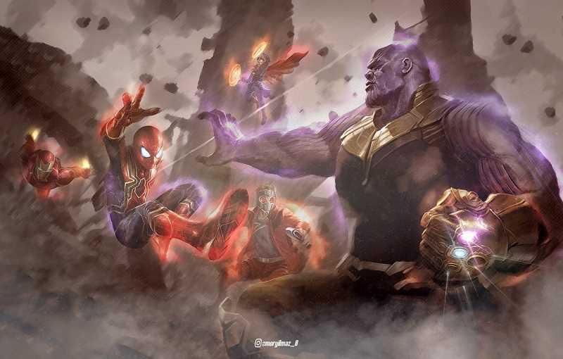 Doctor Strange và Avengers chiến đấu với Thanos