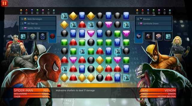 marvel puzzle quest game xep kim cuong 2